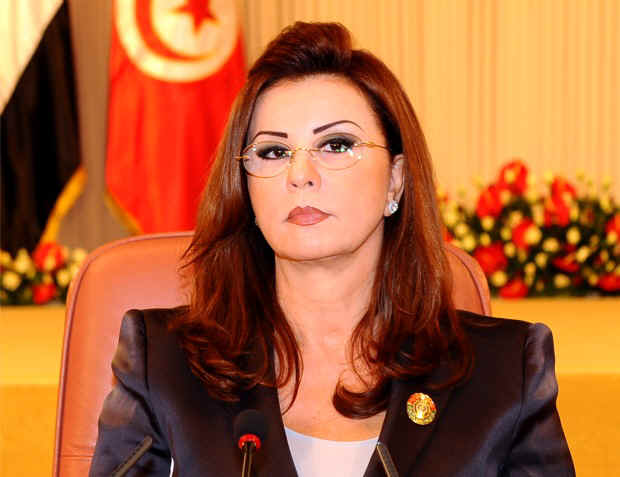 The former First Lady of Tunisia, Leila Ben Ali, whose family,