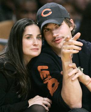 Ashton Kutcher's Text Messages Betray Wife Demi Moore