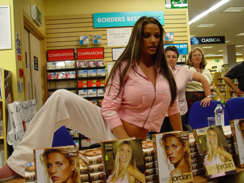 Katie Price A/K/A Jordan making a fool of herself at her book signing (how ...