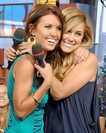 audrina patridge blonde hair. Audrina Patridge (left)