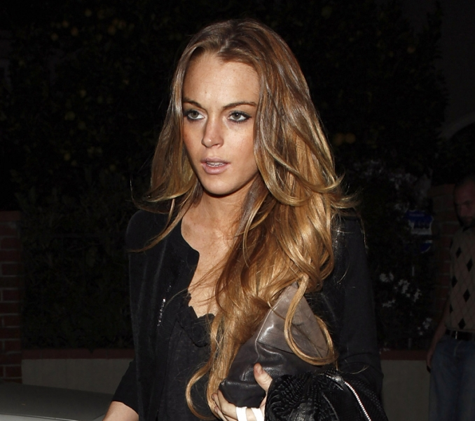 lindsay lohan hair extensions. blow, bad hair extensions