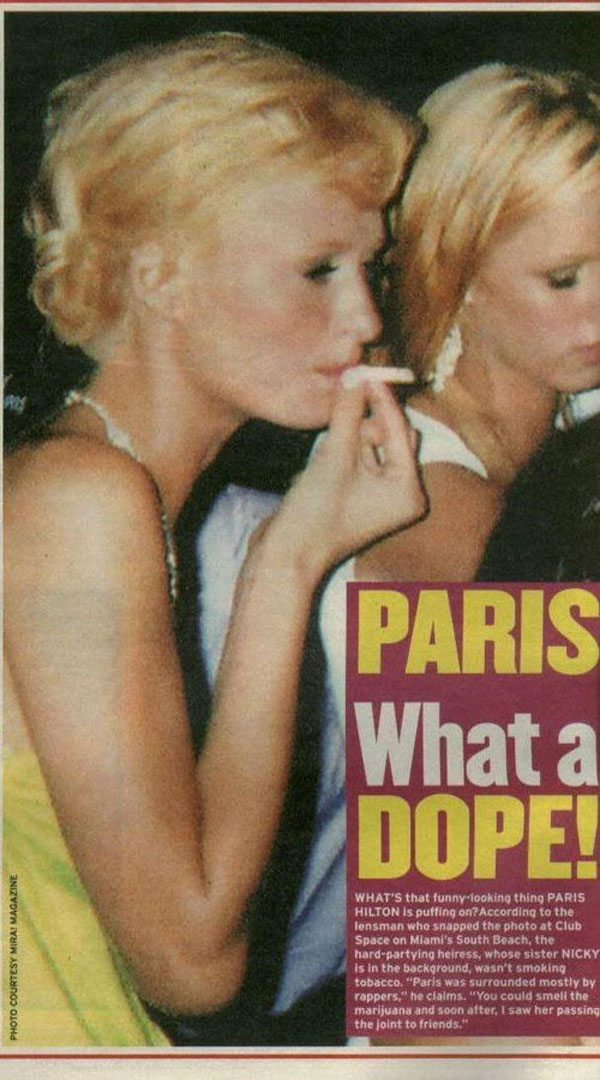 saw people smoking marijuana. Paris Lied Her Non-Existent Butt Off On Larry