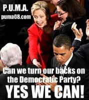 puma hillary Shocker: Poll Finds One Third of Liberals Want Obama Gone in 2012