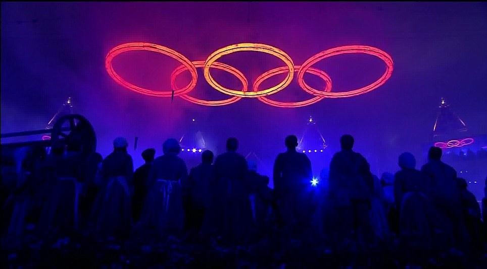 Image result for OLYMPICS LONDON OPENING RINGS