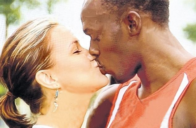 Interracial kiss causes controversy