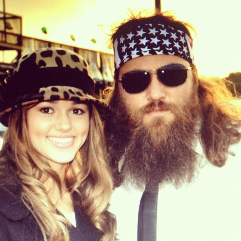 "Duck Dynasty"" stars Sadie Robertson and her dad Willie Robertson"