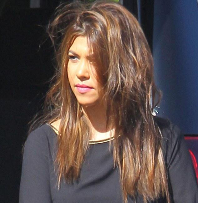 Kourtney Kardashian Pictured Looking Upset After News Of Scott