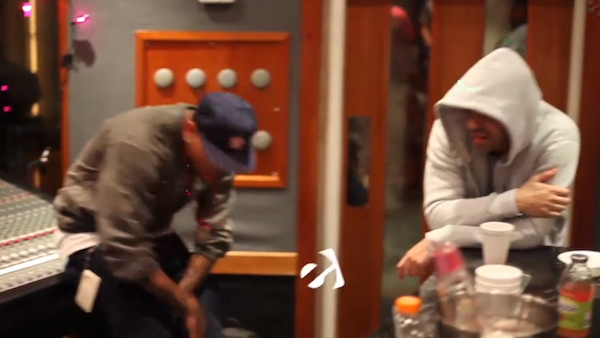 Chris Brown And Drake In The Studio Recording A Track ...