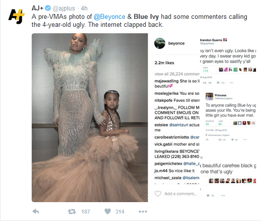 ... Brands Beyonce And Jay Z's Daughter Blue Ivy 'Ugly' At The VMAs