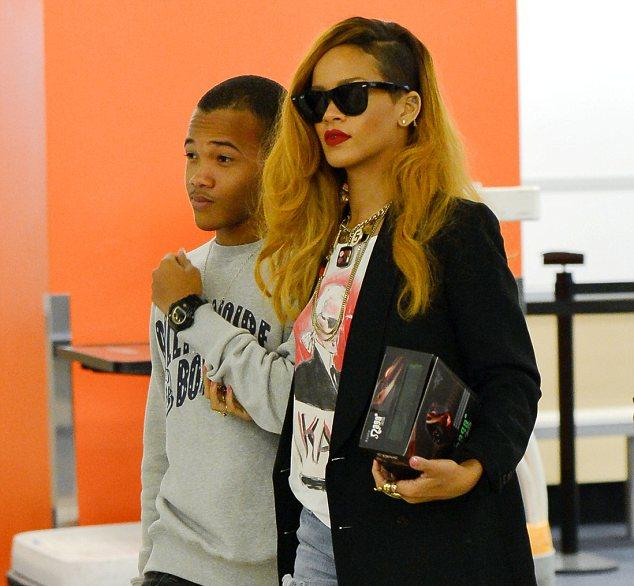 Rihannas Brother Racially Slurs Chris Browns Girlfriend Karrueche