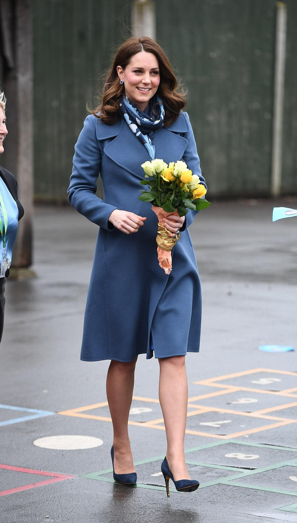 Pregnant Kate Middleton Sports A Lighter Hair Color At Public Event